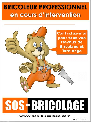 Flyer de communication de la franchise SOS Bricolage
